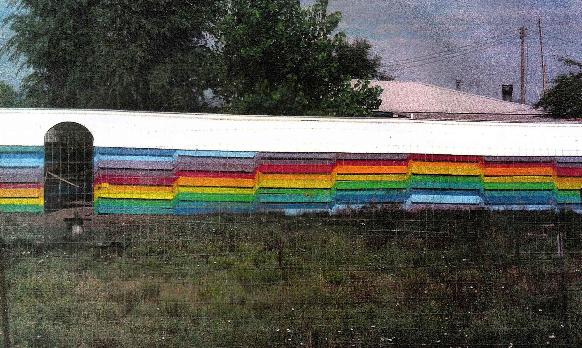Rainbow House Painting